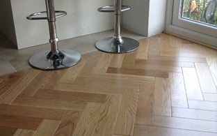 Princeton Solid Wood Herringbone Parquet Flooring Oak 18mm x 90mm Lacquered