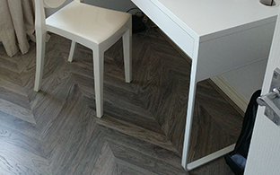 Executive Grey Herringbone Multi Smoked Parquet