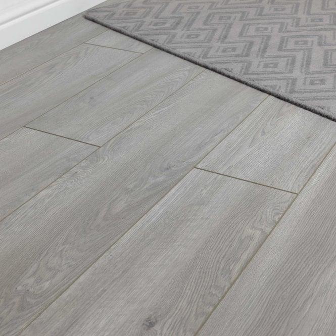Luxury - 12mm Laminate Flooring - Silver Grey Wood