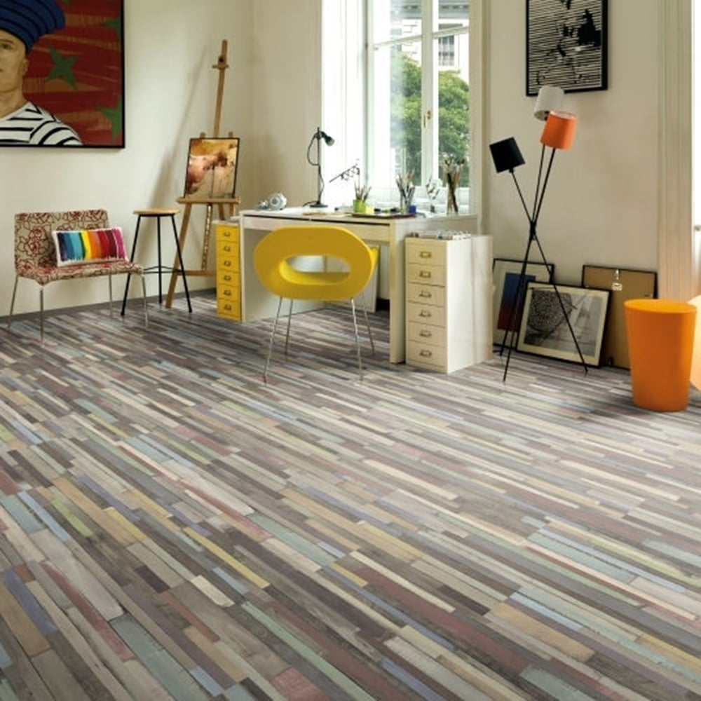 Manhattan 7mm Laminate Flooring Multi Art Colours 2 48m2