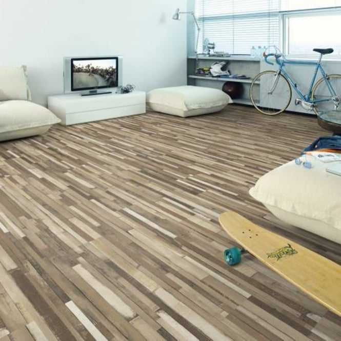 Manhattan Multi Art Cappuccino Laminate Flooring 7mm V-Groove AC3 2.4806m2