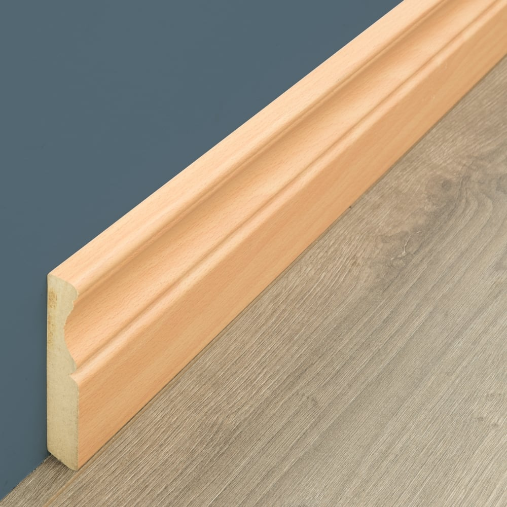 Wiring Skirting Board Mdf Beech 27m Accessories From Discount Flooring