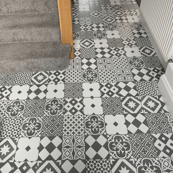 Mediterranean - 8mm Tile Effect Laminate - Monochrome
