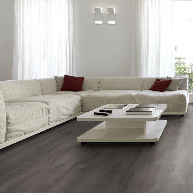 Monte Carlo - 12 mm Laminate Flooring Lead Grey