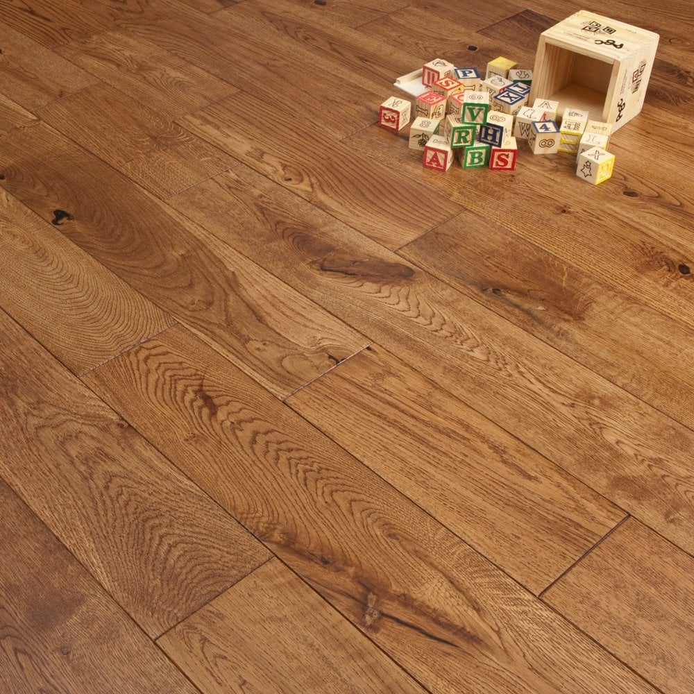Natural touch traditional 18 5mm x 125mm hand scraped 1 for Cheap engineered wood flooring