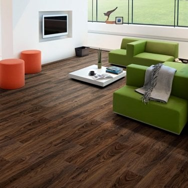 Newtown Wood - 8mm Laminate Flooring - Crowne Walnut