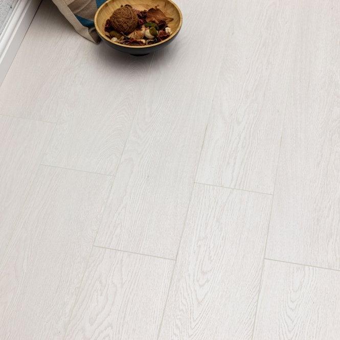 Pelmore - 8 mm laminate flooring - Echo White