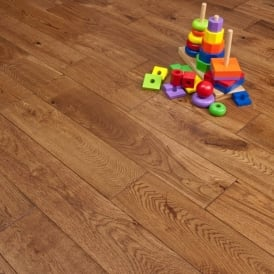 Platinum Series Solid Oak Flooring 18mm x 120mm Hand Scraped UV Traditional 1.152m2
