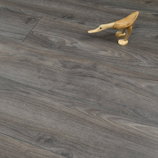 Plus Style - 12mm Laminate Flooring - Dark Grey Oak