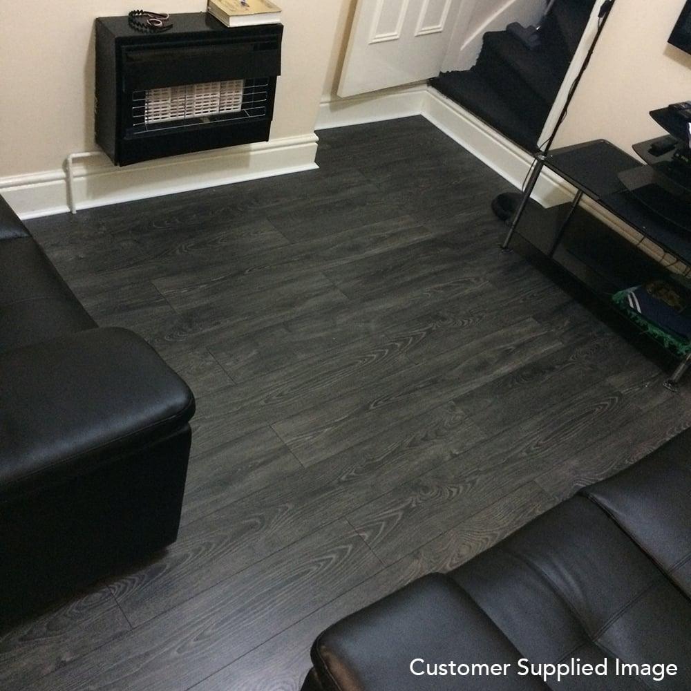 Black Smoked Oak Laminate Flooring, Dark Grey Laminate Flooring Ideas