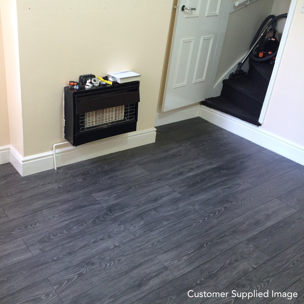 Black Smoked Oak 8mm Premier Elite Laminate Flooring