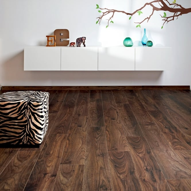 Premier Select - 8mm Laminate Flooring - Dark Walnut