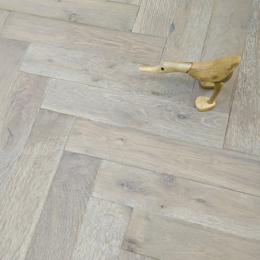 princeton engineered herringbone parquet flooring oak 18 5 x 90mm smoked brushed and white oiled. Black Bedroom Furniture Sets. Home Design Ideas