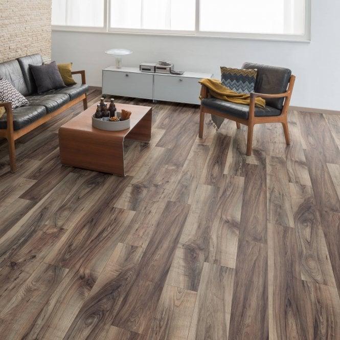 Pro-Fit - 12mm Laminate Flooring - Smoked Walnut