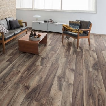 Pro-Fit - 12mm Laminate Flooring - Smoked Walnut