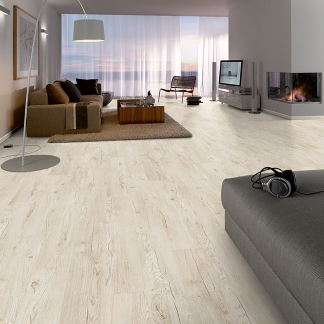 Pro-Fit - 12mm Laminate Flooring - White Wood