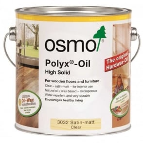 Osmo Polyx Oil 3032 Clear Satin Finish 2.5 Litre