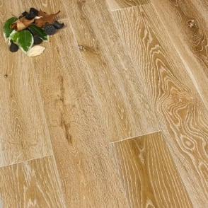 Gold Series Solid Oak Flooring 18mm x 120mm Brushed and White UV Lacquered 1.152m2