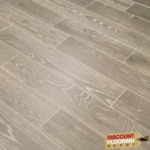 Hillwood Collection Engineered Flooring 18/5mm x 125mm Oak Smoked Grey Brushed and Lacquered 1.2m2