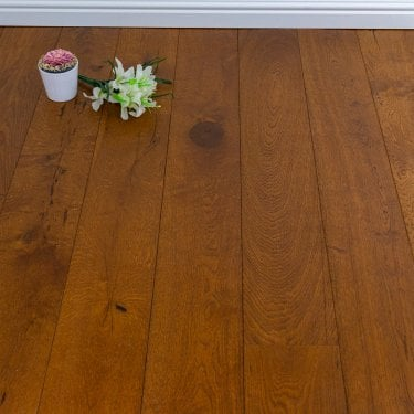 Purity Gold - 20mm Engineered Wood Flooring - Oak Brushed and Lacquered