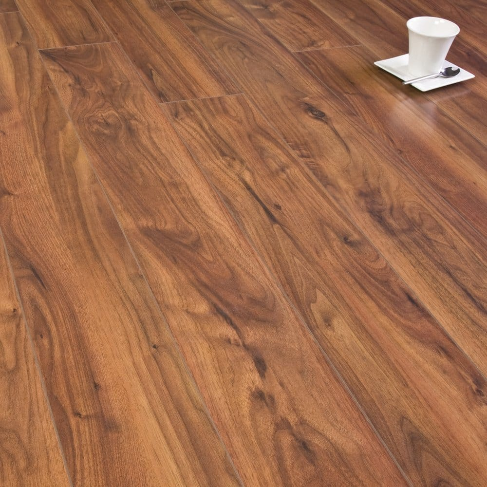 Select colonial walnut 8mm laminate flooring for Walnut laminate flooring