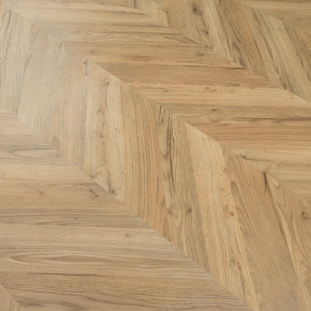 Signature 8mm Herringbone Laminate Flooring Natural