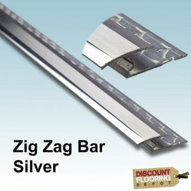 Silver Zig Zag Bar 0.9m (3FT) 8mm
