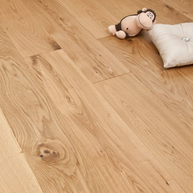 Smart Click - 14mm Engineered Wooden Flooring - Oak Matt Lacquered