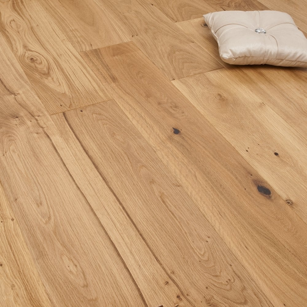Brushed And Oiled Wooden Floor, 14mm Thick Laminate Flooring
