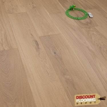 Smart Click - 14mm x 180mm Engineered Wooden Flooring - Oak Cream Matt Lacquered