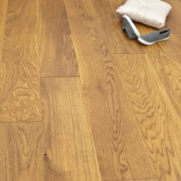 Smart Click - 14mm x 180mm Engineered Wooden Flooring - Oak Golden Matt Lacquered