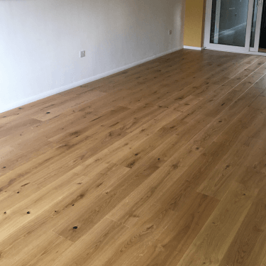 Smart Click - 14mm x 180mm Engineered Wooden Flooring - Oak Matt Lacquered