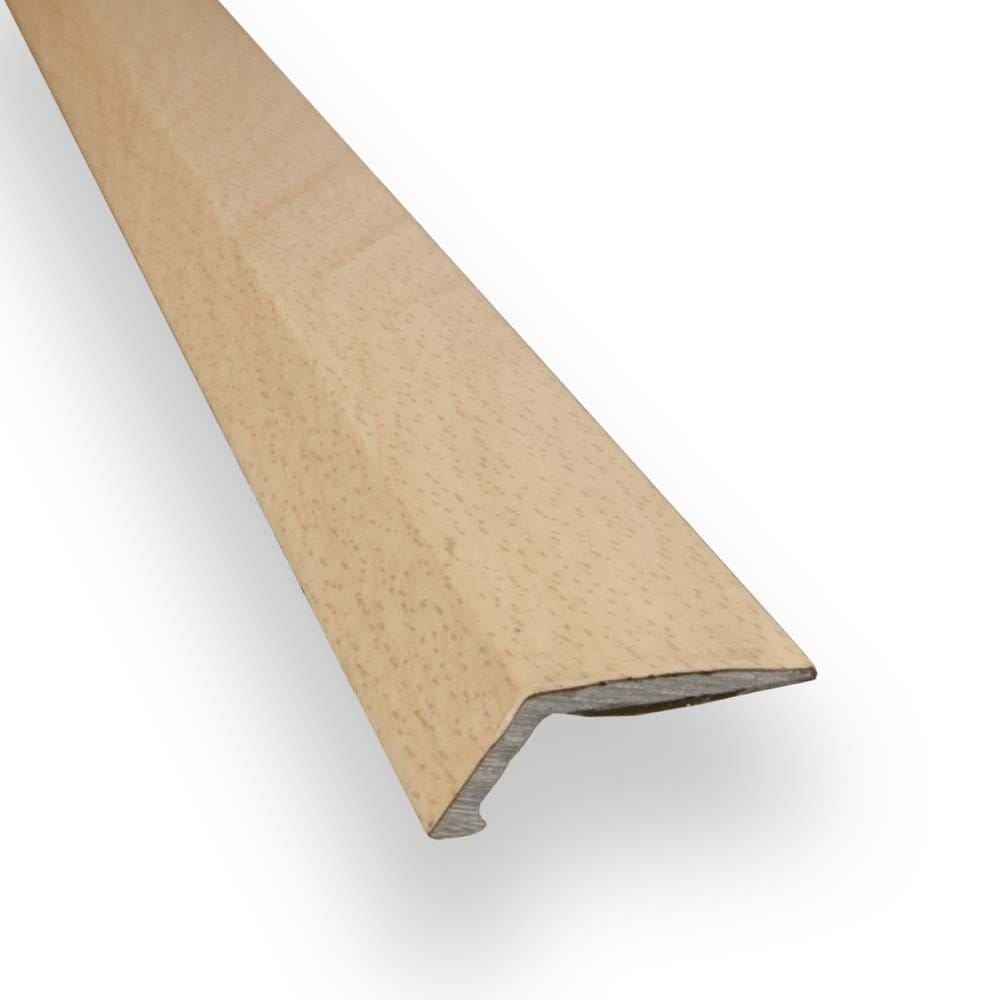 Stick down ramp edge trim 8mm beech finish from for Floor edge trim