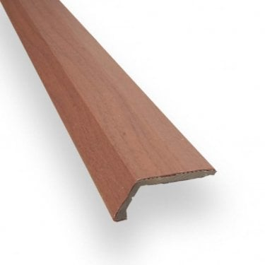 Stick Down Ramp Edge Trim 8mm Mahogany Finish 0.9m