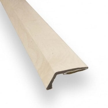 Stick Down Ramp Edge Trim 8mm Maple Finish 0.9m