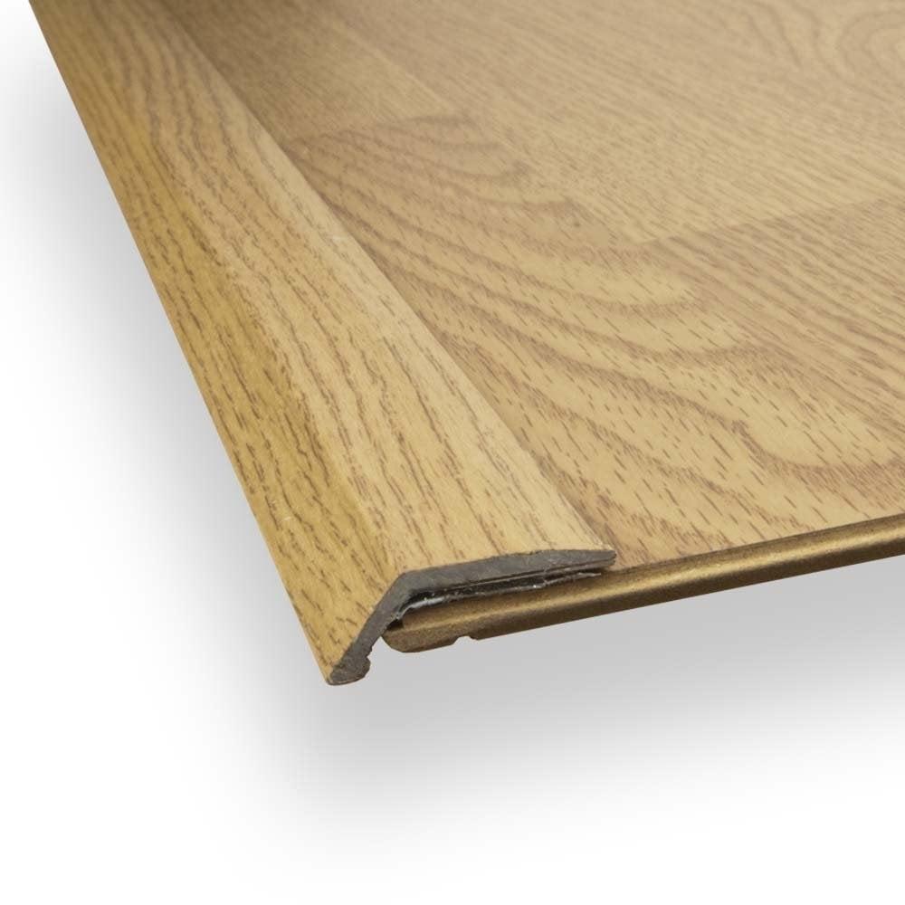 stick down ramp edge trim 8mm oak finish from discount flooring depot uk. Black Bedroom Furniture Sets. Home Design Ideas