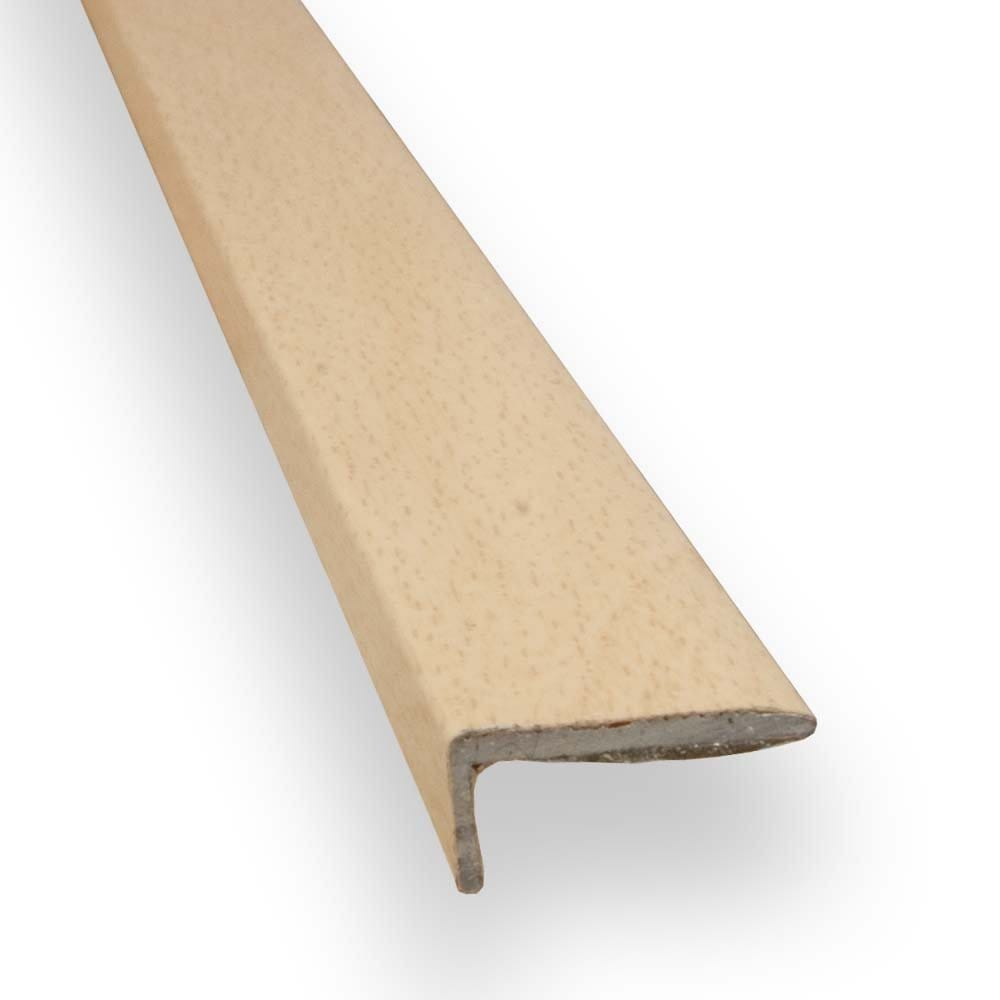 Stick down square edge trim 8mm beech finish from for Floor edge trim