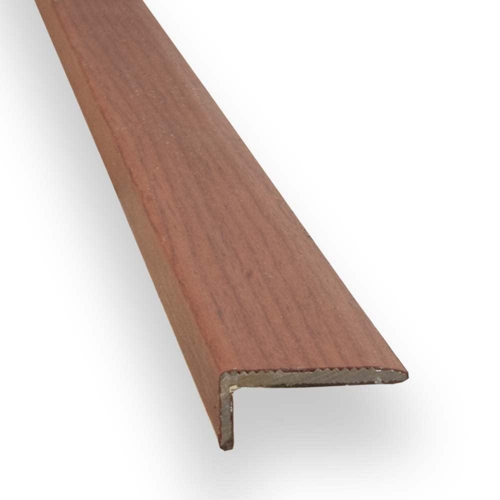 Stick down square edge trim 8mm mahogany finish for Floor edge trim