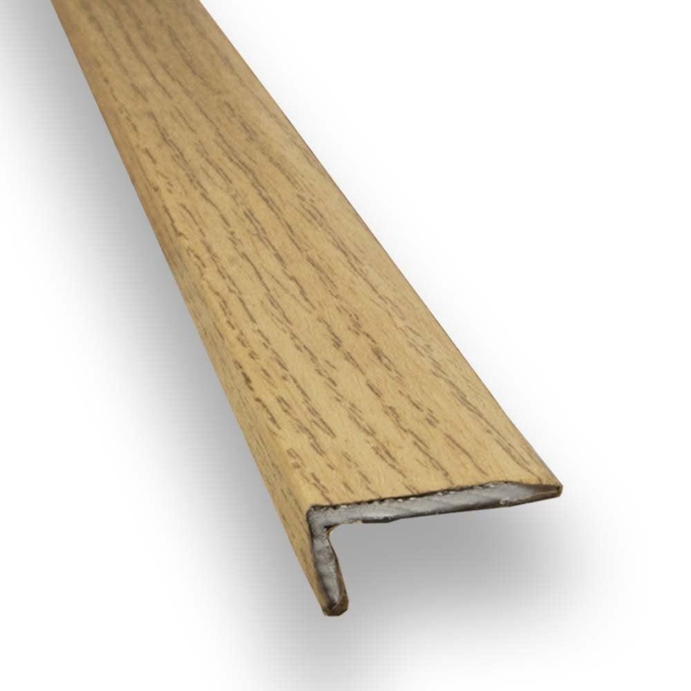 Stick Down Square Edge Trim 8mm Oak Finish 0 9m
