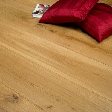 Summit - 20/6mm x 240mm Engineered Oak Flooring - Brushed and Lacquered