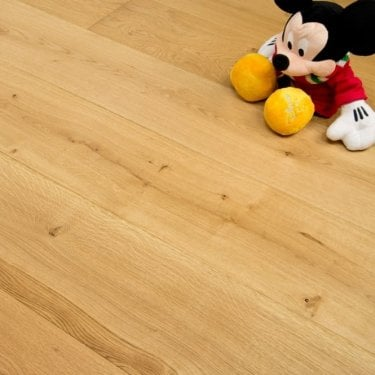 Summit - 20/6mm x 240mm Engineered Oak Flooring - Brushed and Oiled