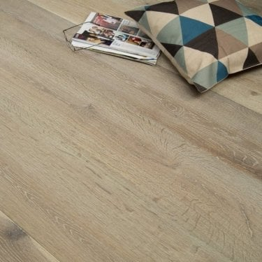 Summit Engineered Flooring 20/6mm x 240mm Oak Smoked Brushed and White Oiled 2.28m2