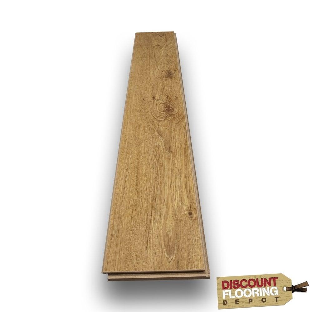 Super Gloss 12mm Mid Oak V Groove Ac3 2 085m2 From