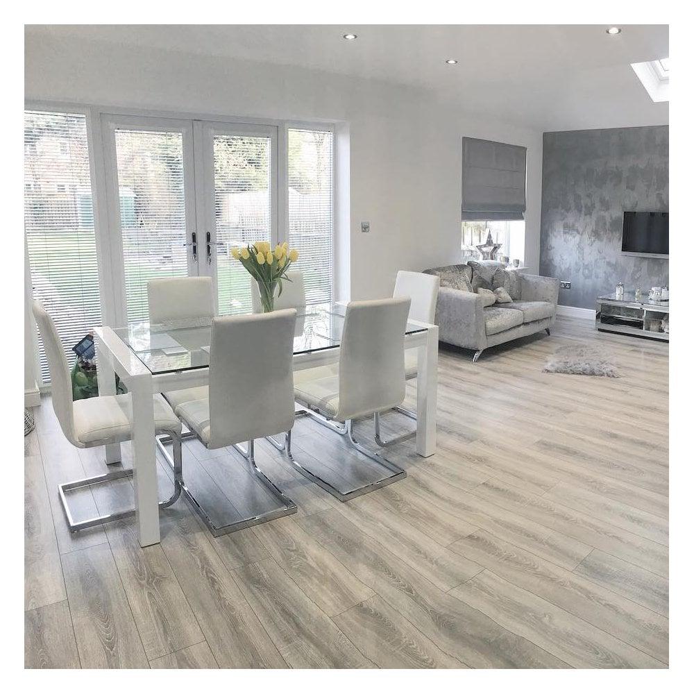 Light Grey Laminate Flooring Samples, Light Grey Oak Effect Laminate Flooring