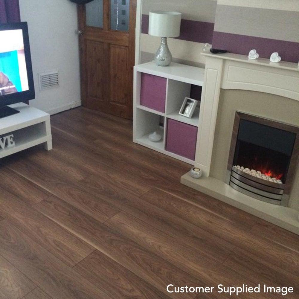 Mansonia Walnut 7mm Laminate Flooring