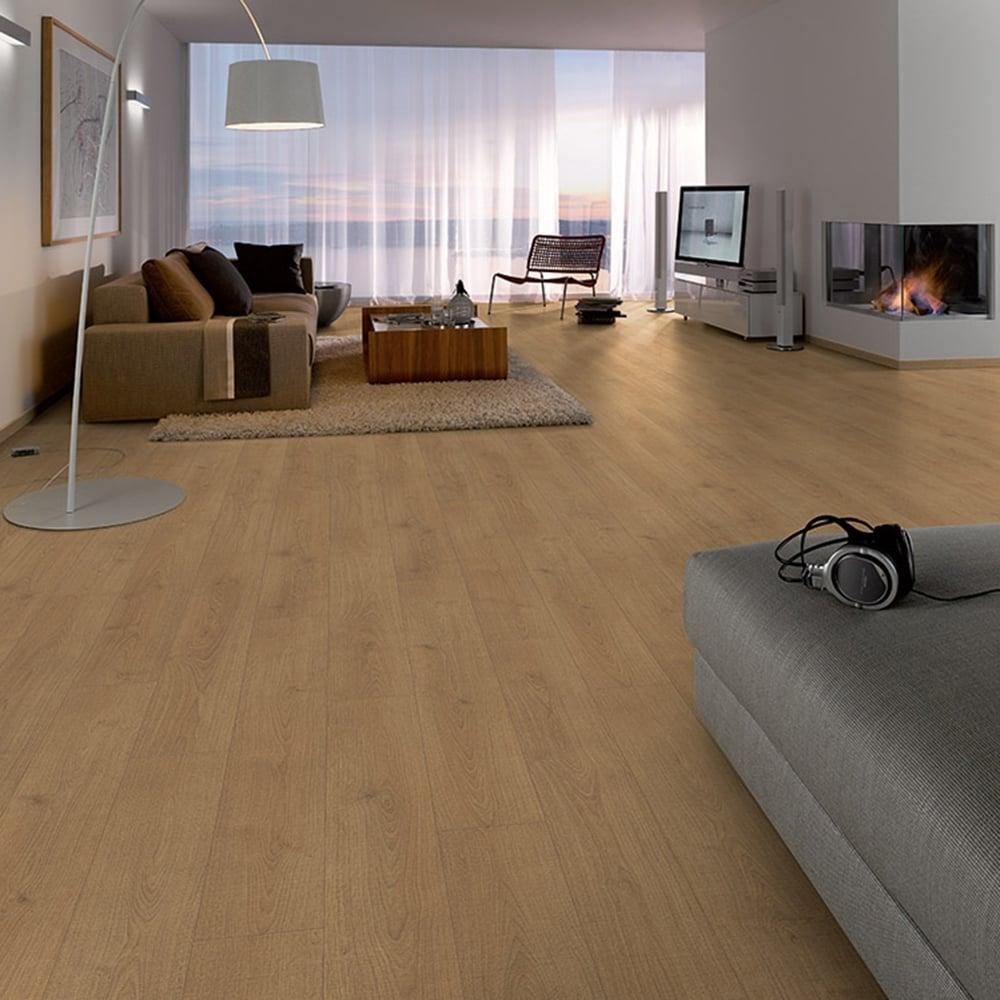 Sydney Timberland Oak Laminate Flooring 7mm Flat Ac3 2