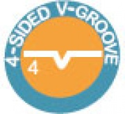 4 - Sided V - Groove
