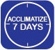 7 days Acclimatization