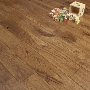 Timeless - 18/5mm x 150mm Engineered Flooring - Oak Hand Scraped Traditional