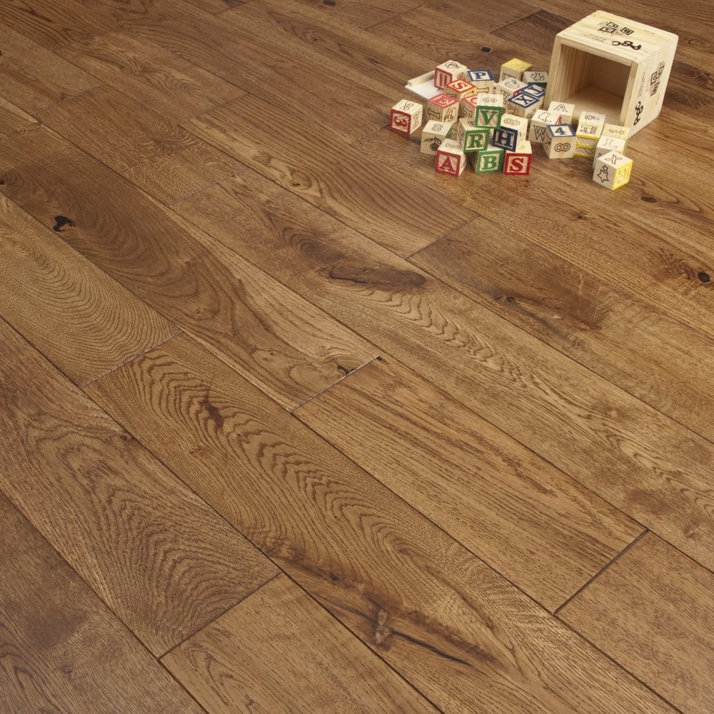 Timeless 18mm Engineered Flooring Oak Hand Scraped
